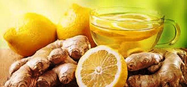 Ginger with Lemon Juice