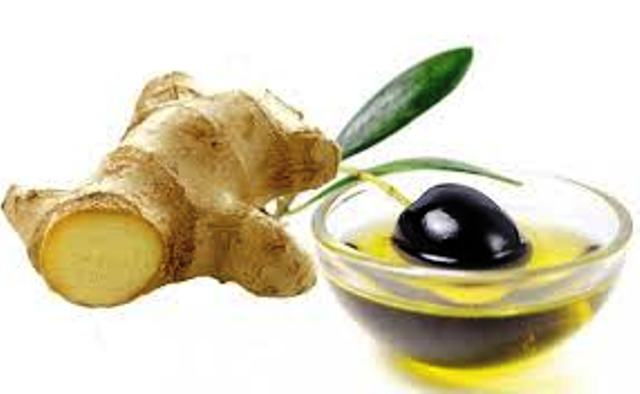 Ginger with Olive Oil