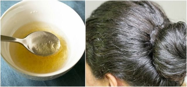 Coconut Oil Used As A Hair Mask