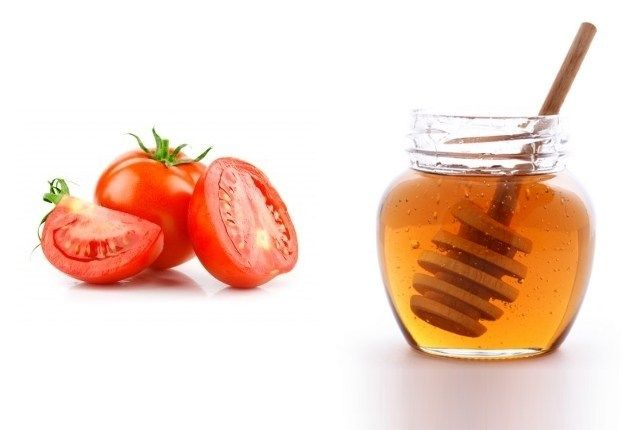 Tomato And Honey For Fizzy Hair