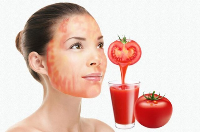 Tomato Juice As Natural Astringent