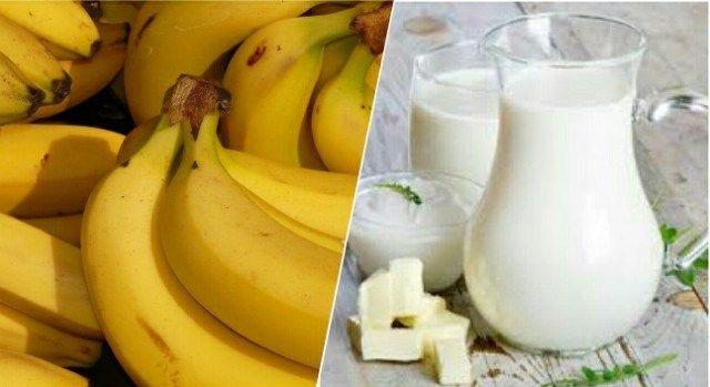 banana and milk hair mask