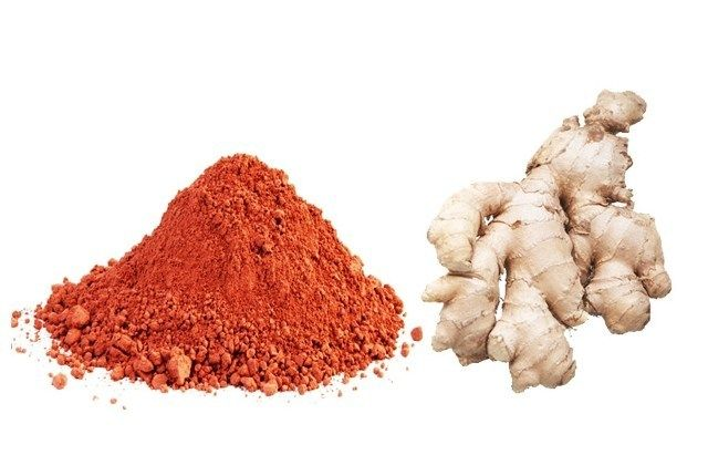 Red Clay And Ginger Juice Removes Whitespots